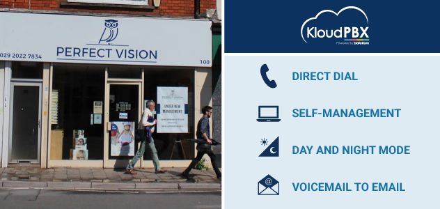 DataKom has welcomed Perfect Vision based in Cardiff, South Wales, completing a cloud-based phone system installation.