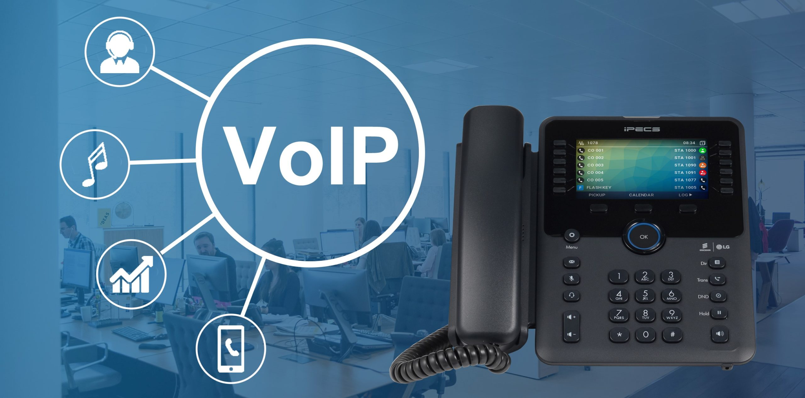 What are the benefits of VoIP for businesses